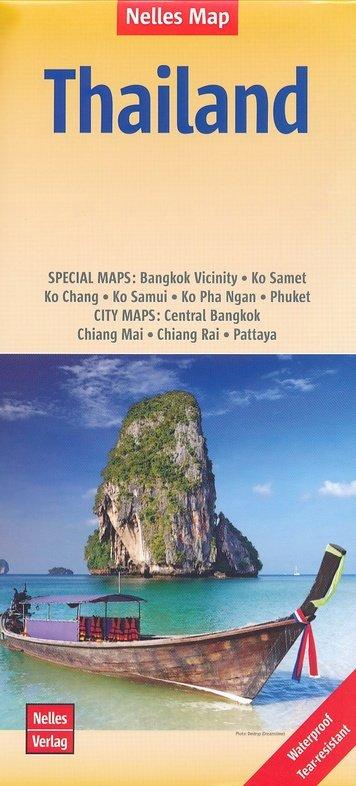 Thailand | wegenkaart - overzichtskaart 1:1.500.000 9783865741301  Nelles Nelles Maps  Landkaarten en wegenkaarten Thailand