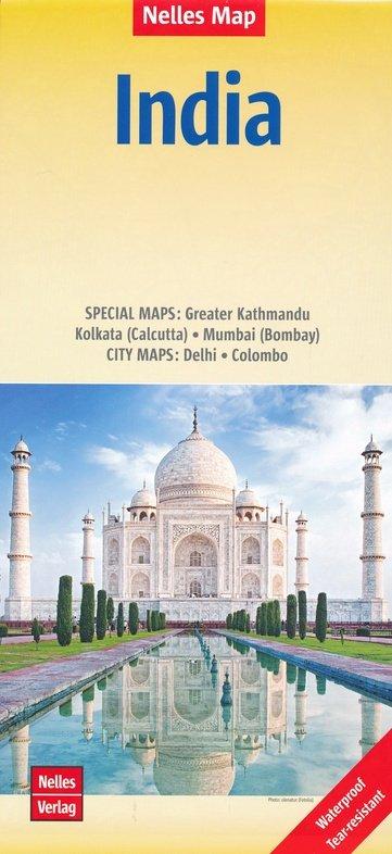 Indian Subcontinent   wegenkaart - overzichtskaart 1:4.500.000 9783865742766  Nelles Nelles Maps  Landkaarten en wegenkaarten Pakistan, India, Bangladesh, Sri Lanka, Malediven
