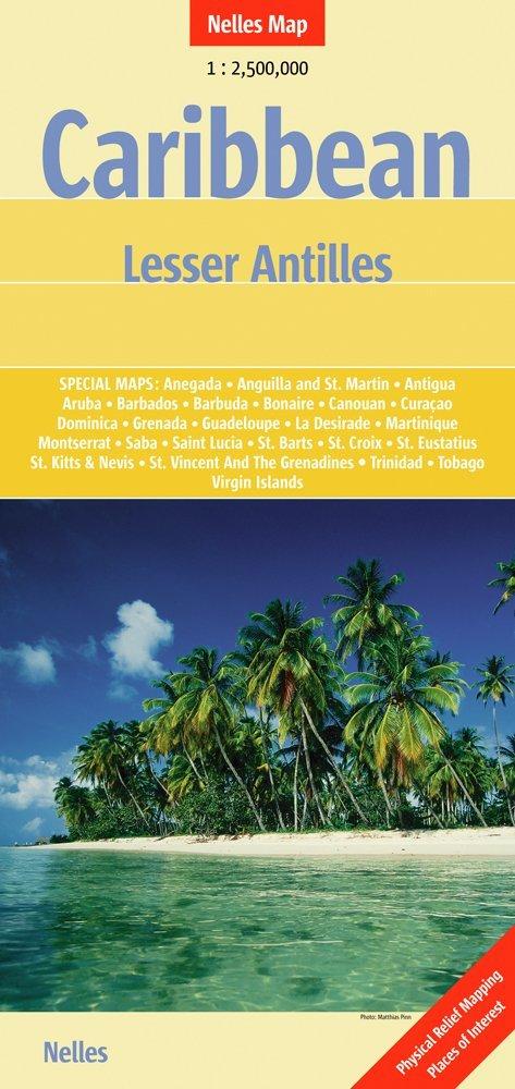 Caribbean Islands 2: Lesser Antilles | wegenkaart - overzichtskaart 9783865742872  Nelles Nelles Maps  Landkaarten en wegenkaarten Caribisch Gebied