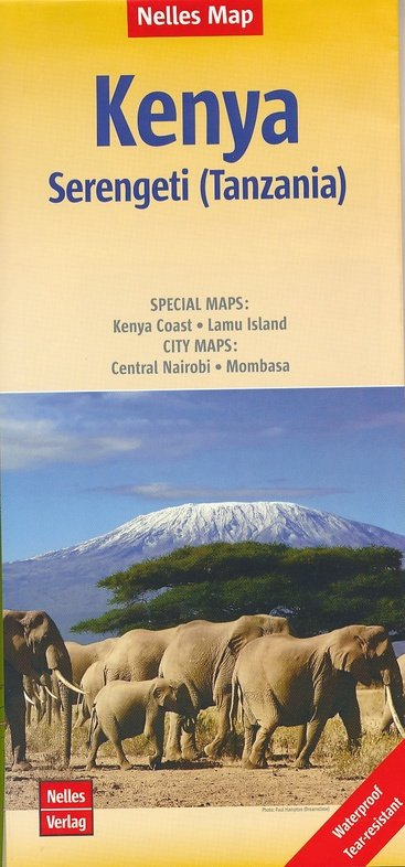 Kenya | wegenkaart - overzichtskaart 1:1.100.000 9783865742889  Nelles Nelles Maps  Landkaarten en wegenkaarten Kenia