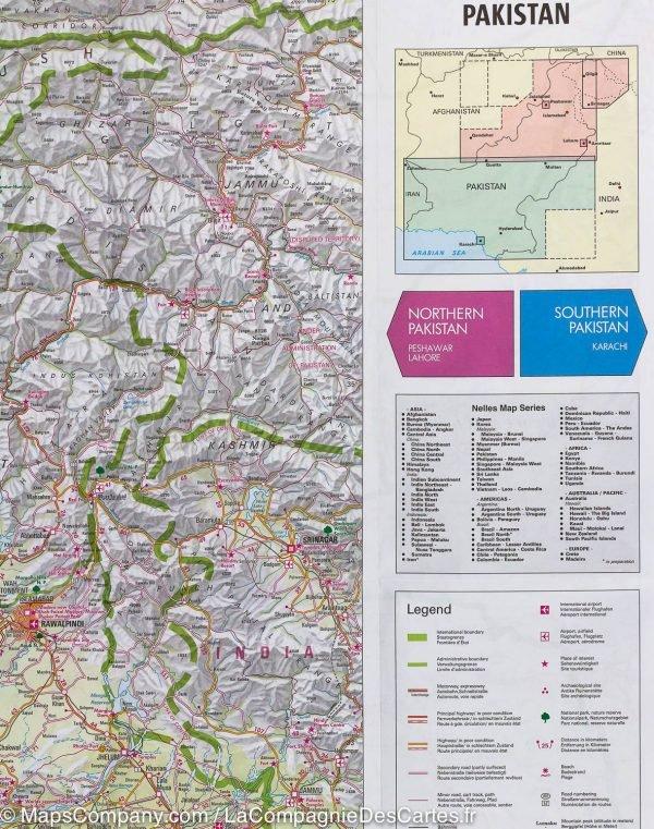 Pakistan   wegenkaart - overzichtskaart 1:1.500.000 9783865744425  Nelles Nelles Maps  Landkaarten en wegenkaarten Pakistan