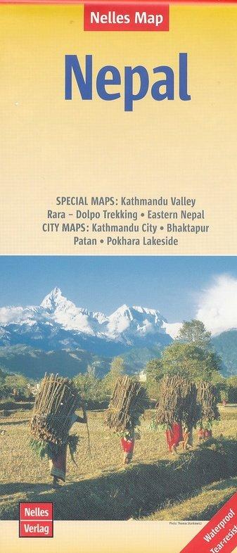 Nepal | wegenkaart - overzichtskaart 1:480.000 / 1.500.000 9783865744821  Nelles Nelles Maps  Landkaarten en wegenkaarten Nepal