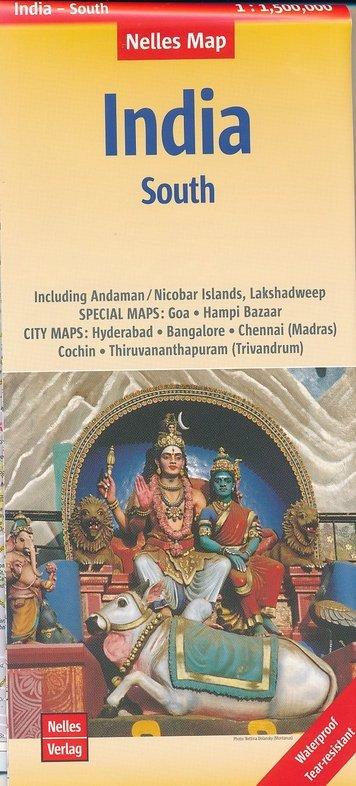 India 04: Zuid | wegenkaart - overzichtskaart 1:1.500.000 9783865745026  Nelles Nelles Maps  Landkaarten en wegenkaarten India