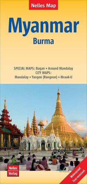 Burma/Myanmar | wegenkaart - overzichtskaart 1:1.500.000 9783865745033  Nelles Nelles Maps  Landkaarten en wegenkaarten Birma (Myanmar)