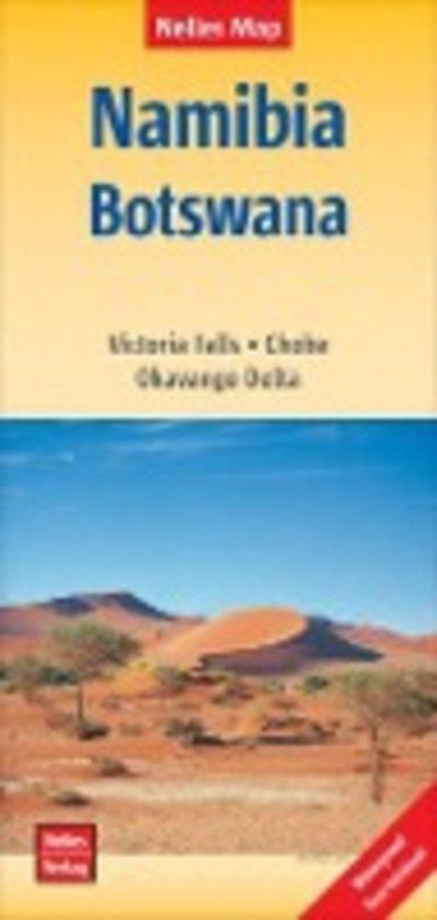 Namibia, Botswana | wegenkaart - overzichtskaart 1:1.500.000 9783865745217  Nelles Nelles Maps  Landkaarten en wegenkaarten Botswana, Namibië