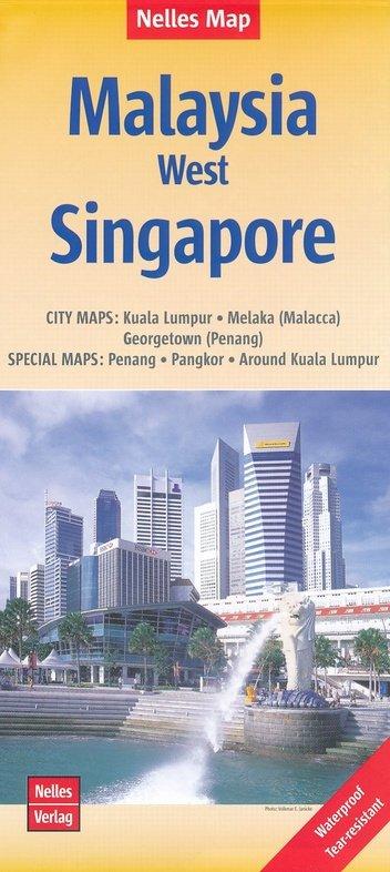 Malaysia West | wegenkaart - overzichtskaart 1:1.500.000 9783865745392  Nelles Nelles Maps  Landkaarten en wegenkaarten Maleisië en Brunei
