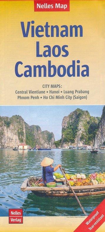 Vietnam, Laos, Cambodja | wegenkaart - overzichtskaart 1:1.500.000 9783865745484  Nelles Nelles Maps  Landkaarten en wegenkaarten Indochina
