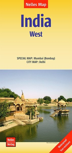 India 02: West  | wegenkaart - overzichtskaart 1:1.500.000 9783865745583  Nelles Nelles Maps  Landkaarten en wegenkaarten India