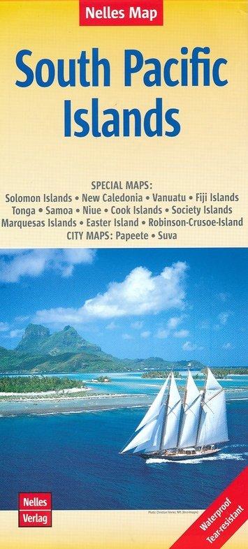 South Pacific Islands | wegenkaart - overzichtskaart 9783865746184  Nelles Nelles Maps  Landkaarten en wegenkaarten Pacifische Oceaan (Pacific)