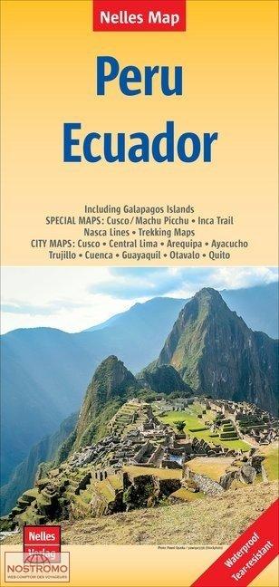 Peru (+ Ecuador) | wegenkaart - overzichtskaart 1:2.500.000 9783865746405  Nelles Nelles Maps  Landkaarten en wegenkaarten Ecuador, Peru, Bolivia