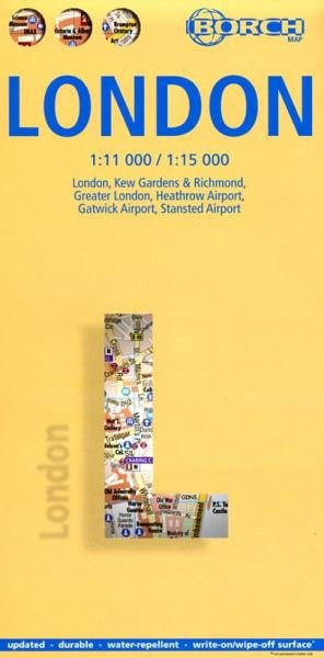 London 1:11.000 / 1:15.000 | stadsplattegrond 9783866093072  Berndtson / Borch   Stadsplattegronden Londen