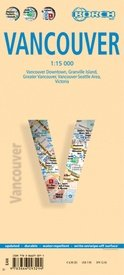 Vancouver Map 1:15.000   stadsplattegrond 9783866093294  Berndtson / Borch   Stadsplattegronden West-Canada, Rockies
