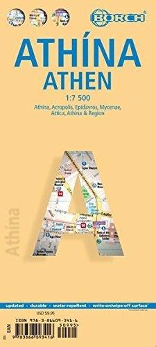 Athene 1:7.500 | stadsplattegrond 9783866093416  Berndtson / Borch   Stadsplattegronden Midden en Noord-Griekenland, Athene
