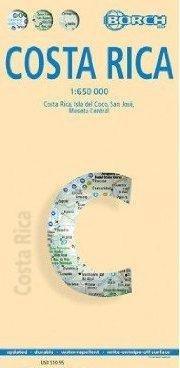 Costa Rica 1:650.000 9783866093508  Berndtson / Borch   Landkaarten en wegenkaarten Costa Rica