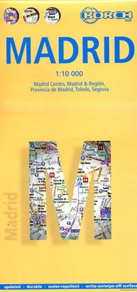 Madrid stadsplattegrond 1:10.000 9783866093577  Berndtson / Borch   Stadsplattegronden Madrid