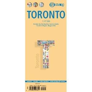 Toronto 1:17.500  | stadsplattegrond 9783866093621  Berndtson / Borch   Stadsplattegronden Canada ten oosten van de Rockies