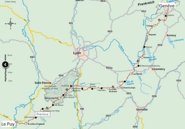 Jakobsweg Via Gebennensis, Via Podiensis | wandelgids Jacobsroute 9783866864870  Conrad Stein Verlag Outdoor - Der Weg ist das Ziel  Santiago de Compostela, Wandelgidsen Frankrijk