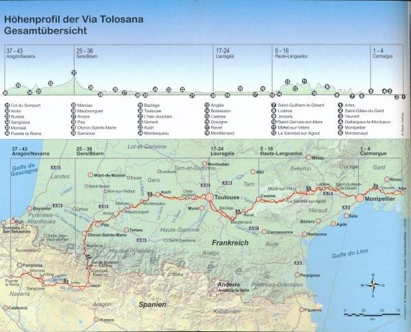 Via Tolosana   wandelgids Jacobsroute 9783866865976  Conrad Stein Verlag Outdoor - Der Weg ist das Ziel  Santiago de Compostela, Wandelgidsen Midden-Frankrijk en Atlantische Kust