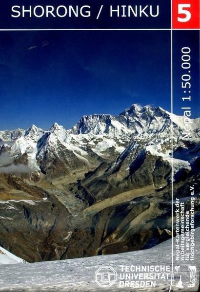 NK-05  Shorong Hingku 1:50.000 9783867803342  Nelles/Nepal Kartenwerk Wandelkaarten Nepal  Wandelkaarten Nepal