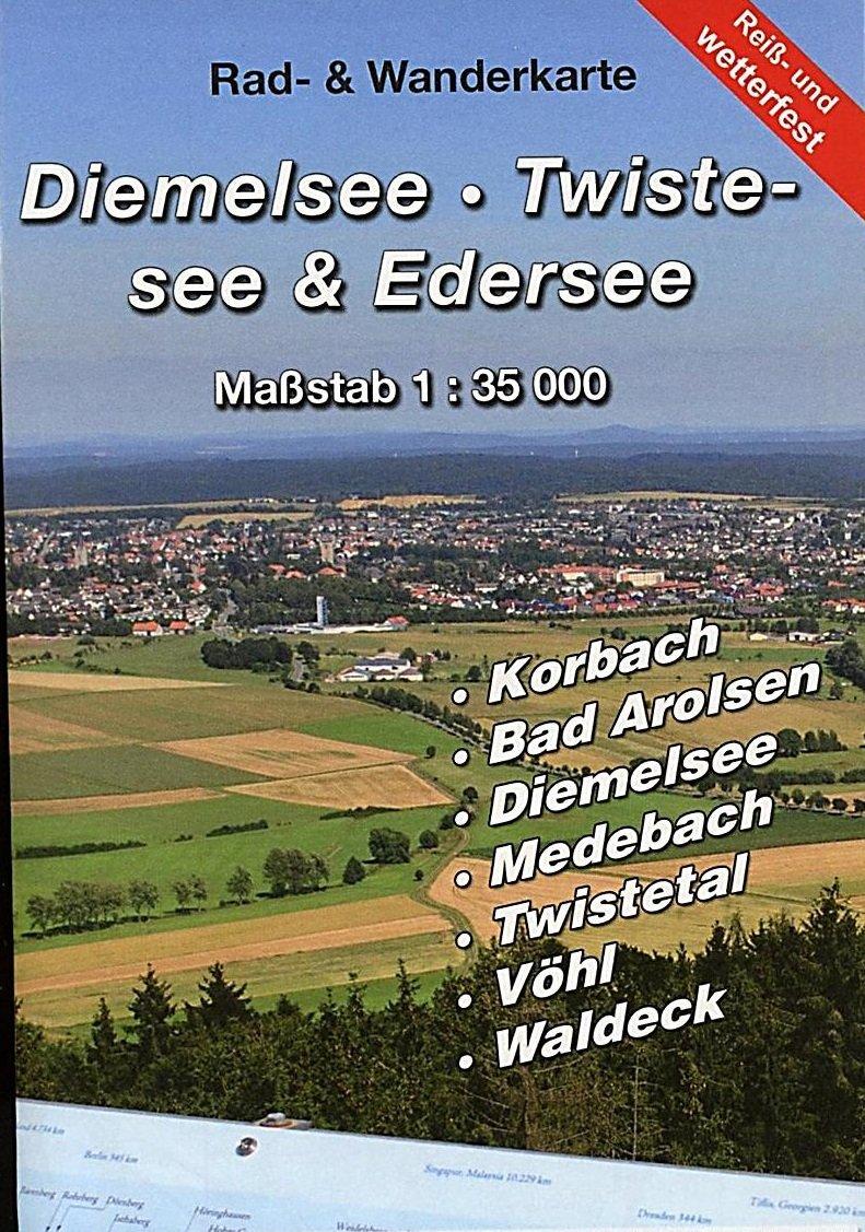 Diemelsee - Twistesee - Edersee 1:35.000 9783869731247  KKV Kartographische Kommunale Verlagsgesellschaft   Wandelkaarten Hessen