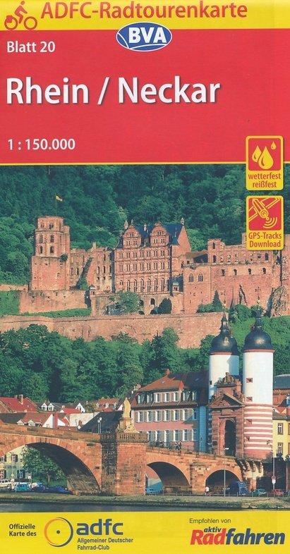 ADFC-20 Rhein/Neckar 9783870737283  ADFC / BVA Radtourenkarten 1:150.000  Fietskaarten Baden-Württemberg, Zwarte Woud