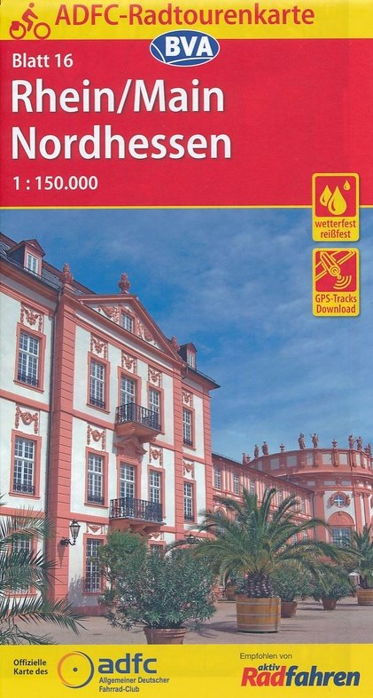 ADFC-16 Rhein/Main/Nordhessen | fietskaart 1:150.000 9783870737672  ADFC / BVA Radtourenkarten 1:150.000  Fietskaarten Hessen
