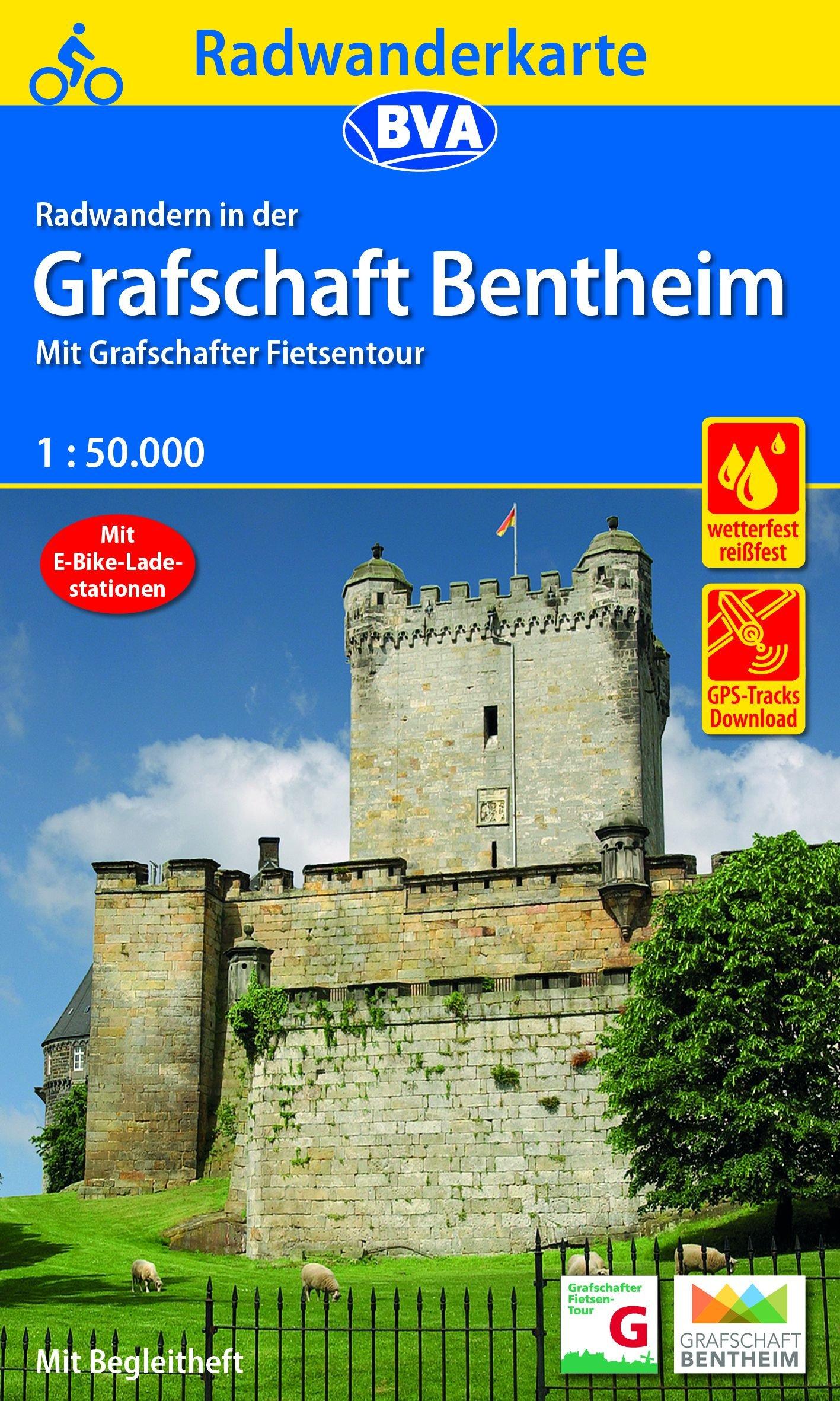 Grafschaft Bentheim Radwanderkarte 1:50.000 9783870737924  BVA   Fietskaarten Sauerland, Münsterland, Teutoburger Wald