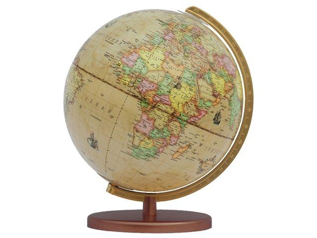 603016  Renaissance 30 cm 9783871295300  Columbus Globes / Wereldbollen  Cadeau-artikelen, Globes Wereld als geheel
