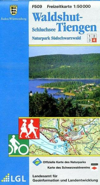 F509 (4) Waldshut, Tiengen 9783890216027  LVA BW Baden-W. 1:50.000  Wandelkaarten Baden-Württemberg, Zwarte Woud