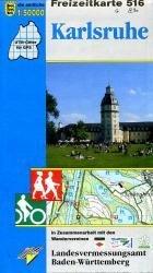 F516   Karlsruhe und Umgebung 9783890216096  LVA BW Baden-W. 1:50.000  Wandelkaarten Baden-Württemberg, Zwarte Woud