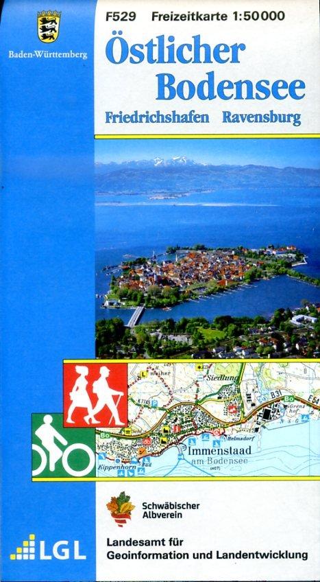 F529  Bodensee Ost 9783890216225  LVA BW Baden-W. 1:50.000  Wandelkaarten Bodenmeer, Schwäbische Alb