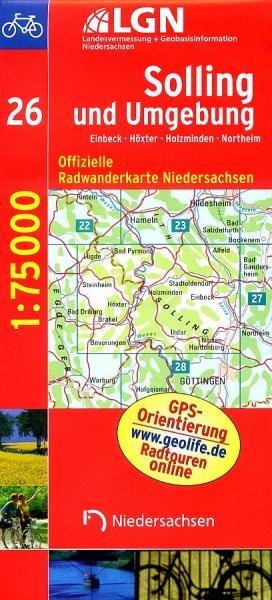 Solling und Umgebung (Blatt 26) 9783894356521  LVA Niedersachsen Radwanderkarten 1:75.000  Fietskaarten Hannover, Weserbergland