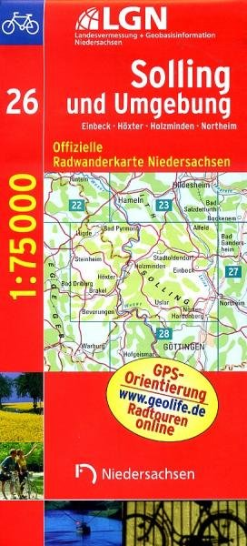 Solling und Umgebung (Blatt 26) 9783894356521  LVA Niedersachsen Radwanderkarten 1:75.000  Fietskaarten Lüneburger Heide, Hannover, Weserbergland