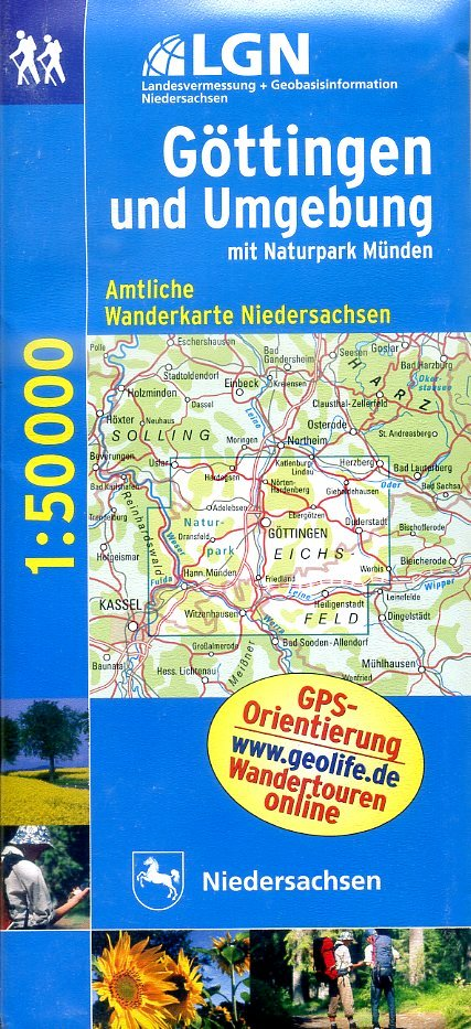 WL10  Göttingen u.Umg. 9783894356675  LVA Niedersachsen TK 50 NP 1:50.000  Wandelkaarten Hannover, Weserbergland