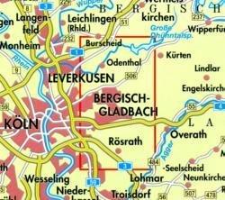 NRW-03 Bergisch Gladbach/Odenth.,Königsforst | wandelkaart 1:25.000 9783894396442  Geomap / LVA NRW Grüne Reihe  Wandelkaarten Niederrhein, Ruhrgebied, Keulen