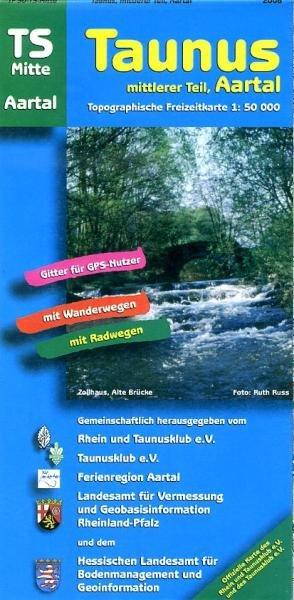TS-Mitte  Taunus-Mittlerer Teil 1:50.000 9783894463984  LVA Hessen Wandelkaart Hessen  Wandelkaarten Hessen
