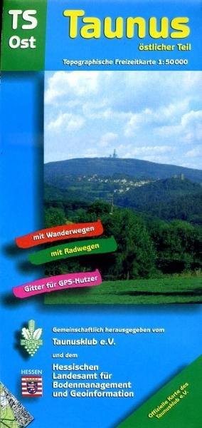 TS-Ost  Taunus-Östlicher Teil 1:50.000 9783894465094  LVA Hessen Wandelkaart Hessen  Wandelkaarten Hessen
