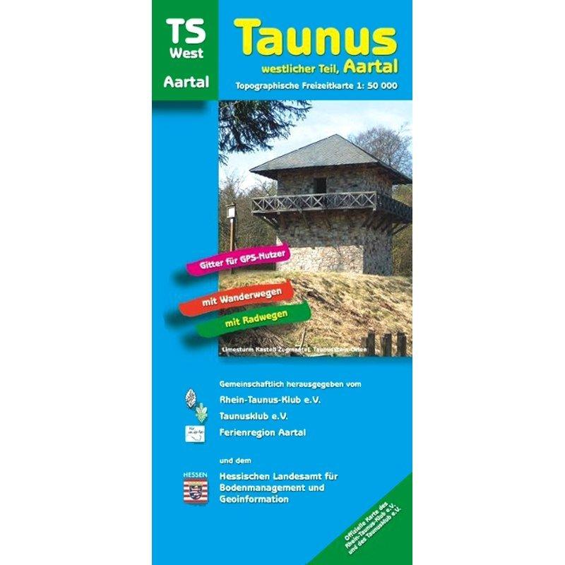 TS-West  Taunus-Westlicher Teil 1:50.000 9783894465216  LVA Hessen Wandelkaart Hessen  Wandelkaarten Hessen
