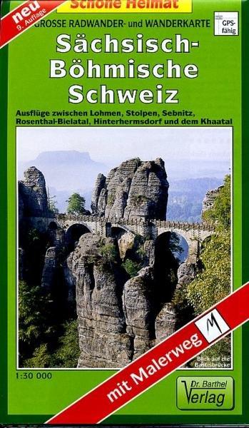 Sächsisch-Böhmische Schweiz 1:30.000 9783895910401  Doktor Barthel Wander- und Radwanderkarten Wandelkaarten Duitsland  Wandelkaarten Erzgebirge, Elbsandsteingebirge, Lausitz