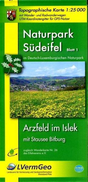 EV-26  NP Südeifel,  Blatt 1: (Nord) | wandelkaart 1:25.000 9783896372734  Eifelverein Wandelkaarten Eifel  Wandelkaarten Eifel, Moezel, Rheinland-Pfalz