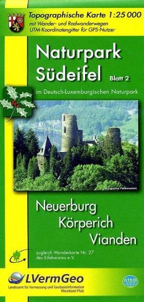 EV-27  NP Südeifel,  Blatt 2: Mitte | wandelkaart 1:25.000 9783896372741  Eifelverein Wandelkaarten Eifel  Wandelkaarten Eifel, Moezel, Rheinland-Pfalz