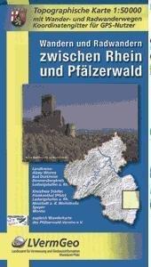 Rhein u. Pfälzerwald, Wandern u. radwandern zw. 9783896373021  LVA Rheinland-Pfalz SK 50 W 1:50.000  Wandelkaarten Eifel, Moezel, Rheinland-Pfalz