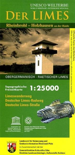 Der Limes (Rheinbrohl-Holzhausen) 1:25.000 9783896373786  LVA Rheinland-Pfalz   Wandelkaarten Mittelrhein, Loreley, Westerwald