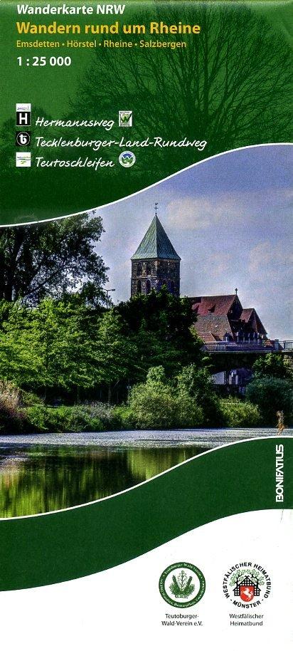 Wandern rund um Rheine | wandelkaart 1:25.000 9783897105560  Bonifatius Grüne Reihe  Wandelkaarten Sauerland, Münsterland, Teutoburger Wald