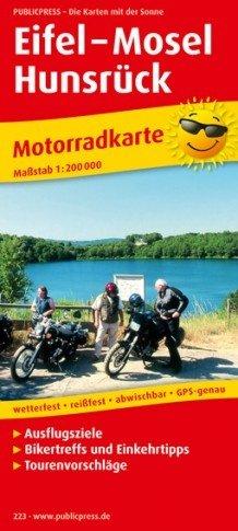 Eifel 1:200.000 motorkaart 9783899202236  Publicpress Motorkaarten - mit der Sonne  Landkaarten en wegenkaarten, Motorsport Eifel, Moezel, Rheinland-Pfalz