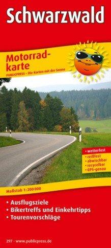 Schwarzwald 1:200.000 9783899202977  Publicpress Motorradkarten - mit der Sonne  Landkaarten en wegenkaarten, Motorsport Baden-Württemberg, Zwarte Woud