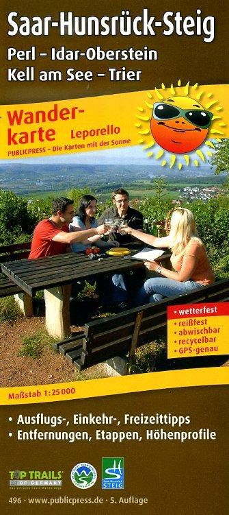 Saar-Hunsrück-Steig (1) 1:25.000 9783899204964  Publicpress Wandelkaarten - mit der Sonne  Wandelkaarten, Meerdaagse wandelroutes Eifel, Moezel, Rheinland-Pfalz