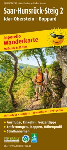 Saar-Hunsrück-Steig (2) 1:25.000 9783899206838  Publicpress Wandelkaarten - mit der Sonne  Meerdaagse wandelroutes, Wandelkaarten Eifel, Moezel, Rheinland-Pfalz