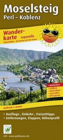 Moselsteig 1:35.000 9783899206999  Publicpress Wandelkaarten - mit der Sonne  Meerdaagse wandelroutes, Wandelkaarten Eifel, Moezel, Rheinland-Pfalz