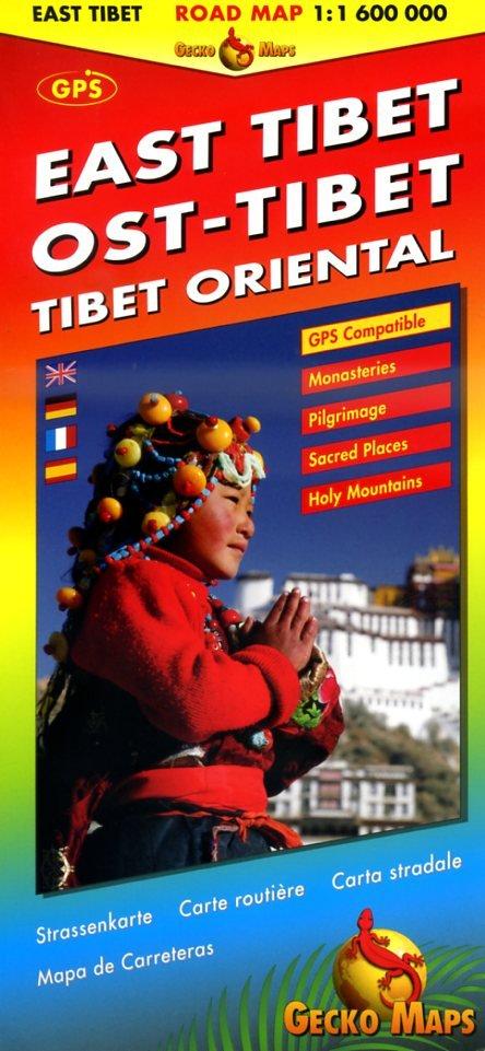 Road Map East Tibet 1:600.000 9783906593425  Gecko Maps   Landkaarten en wegenkaarten Tibet